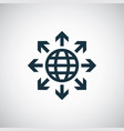 globe arrows icon for web and ui on white vector image vector image