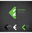 green option background square vector image vector image
