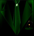 green suit and black card vector image vector image