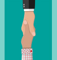 handshake between two people shaking hands vector image vector image