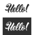 Hello sign vector image vector image