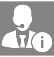 Help desk icon from Business Bicolor Set vector image vector image