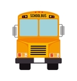 icon bus school isolated vector image vector image