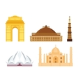 India landmark taj mahal travel vector image vector image