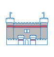 isolated castle design vector image