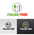 italian food cafe and restaurant logo vector image vector image