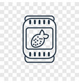 jam concept linear icon isolated on transparent vector image
