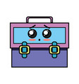 kawaii cute surprised suitcase design vector image vector image