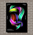 liquid brush poster multicolored object vector image vector image