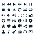 Media player icons vector image