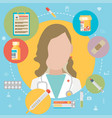 medicine concept in modern flat design style with vector image vector image