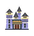 medieval fairytale stone castle vector image vector image