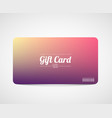 modern simple gift card template vector image vector image