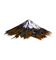 mountain from a splash watercolor colored vector image