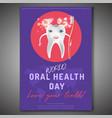 oral health day vector image