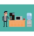 pixel art of office worker pours vector image