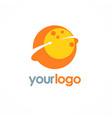 planet round arrow logo vector image vector image