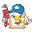 plumber sandwich with egg isolated in mascot vector image