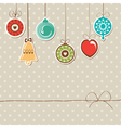 retro holiday background vector image