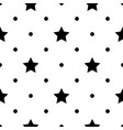seamless monochrome pattern with stars abstract vector image vector image