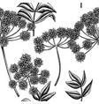 seamless pattern with black and white angelica vector image