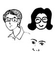 set smile faces vector image