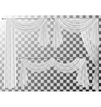 set transparent curtains lambrequin pelmet vector image