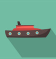ship sea icon flat style vector image