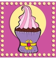 Simple figure cupcake in vintage style vector image vector image