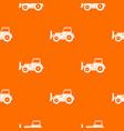 skid steer loader pattern seamless vector image vector image