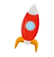 spaceship rocket kid toy icon vector image vector image