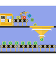 Start Up concept Money making conveyor vector image