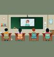 study on tv vector image