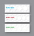 template of a white horizontal banner in a vector image vector image