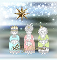 three kings for christian christmas holiday vector image