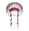 traditional indian feather headdress vector image