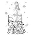 Zen art stylized snail vector image vector image