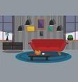modern interior of the living room vector image