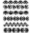 ornament black vector image