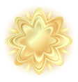 abstract golden flower vector image