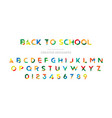 back to school original multicolor font for vector image