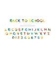 back to school original multicolor font for vector image vector image