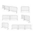 barriers work zone pedestrian construction vector image vector image