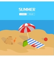 Beach and Tropical Sea vector image vector image