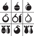 Bombs and rockets icons set vector image