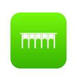 bridge icon digital green vector image vector image