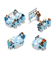 Business negotiations and brainstorming analysis vector image