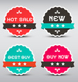 Business Paper Labels Set with New - Best Buy vector image vector image