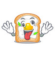 crazy sandwich with egg isolated in mascot