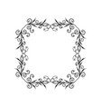 decorative empty floral frame vector image vector image